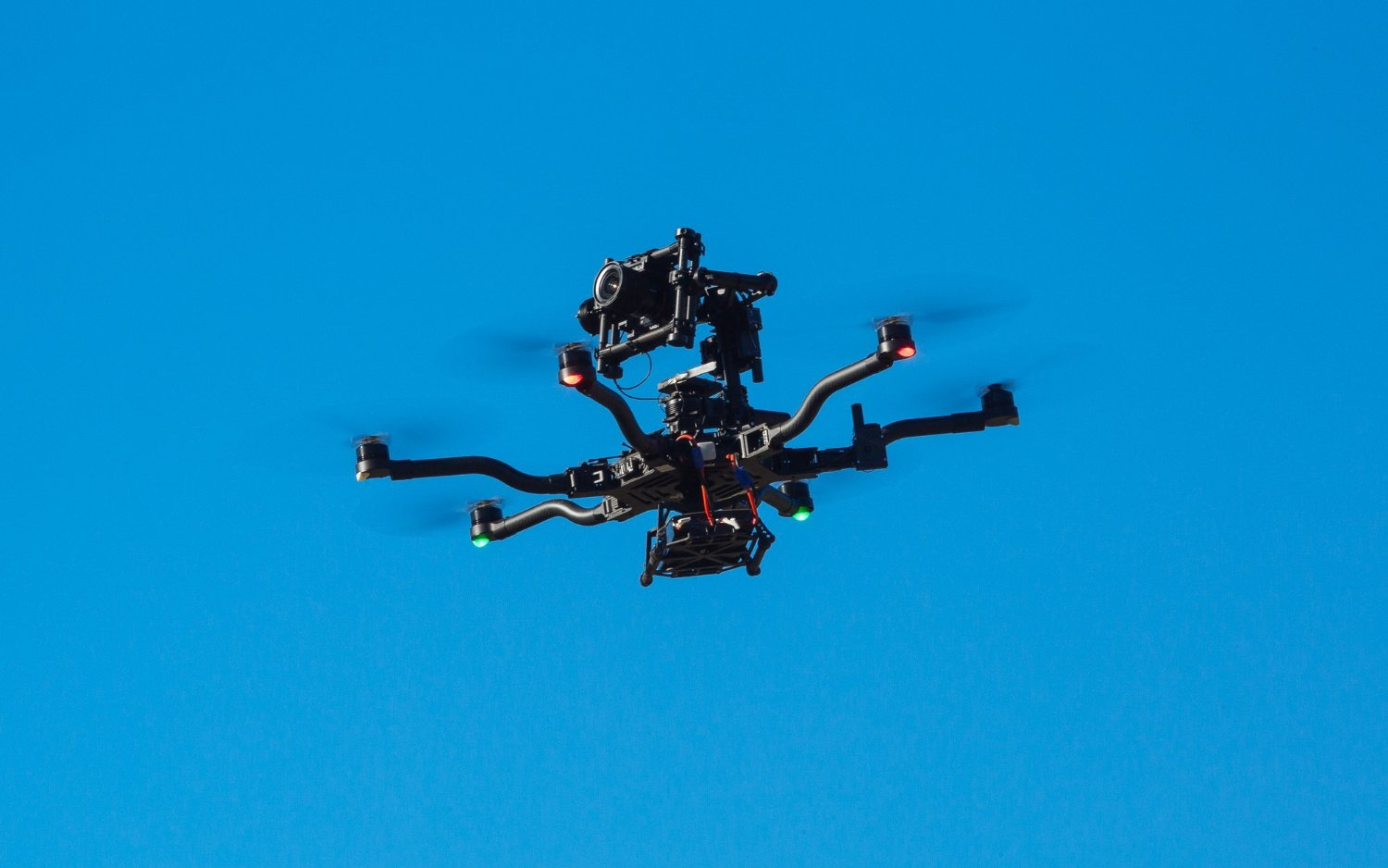 ALTA UAV hexacopter flying. This is the best most expensive drone in the list.