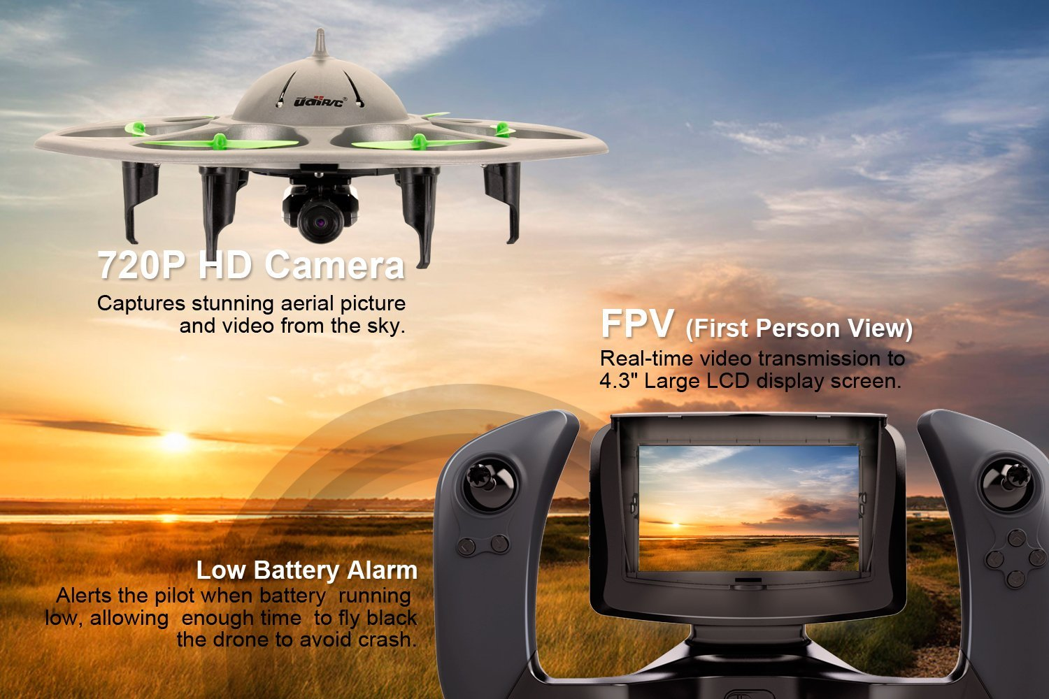 FPV Quadcopter U845 Voyager with monitor