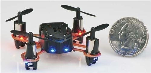 Nano Quadcopter Proto X . Note the Leds in the front.