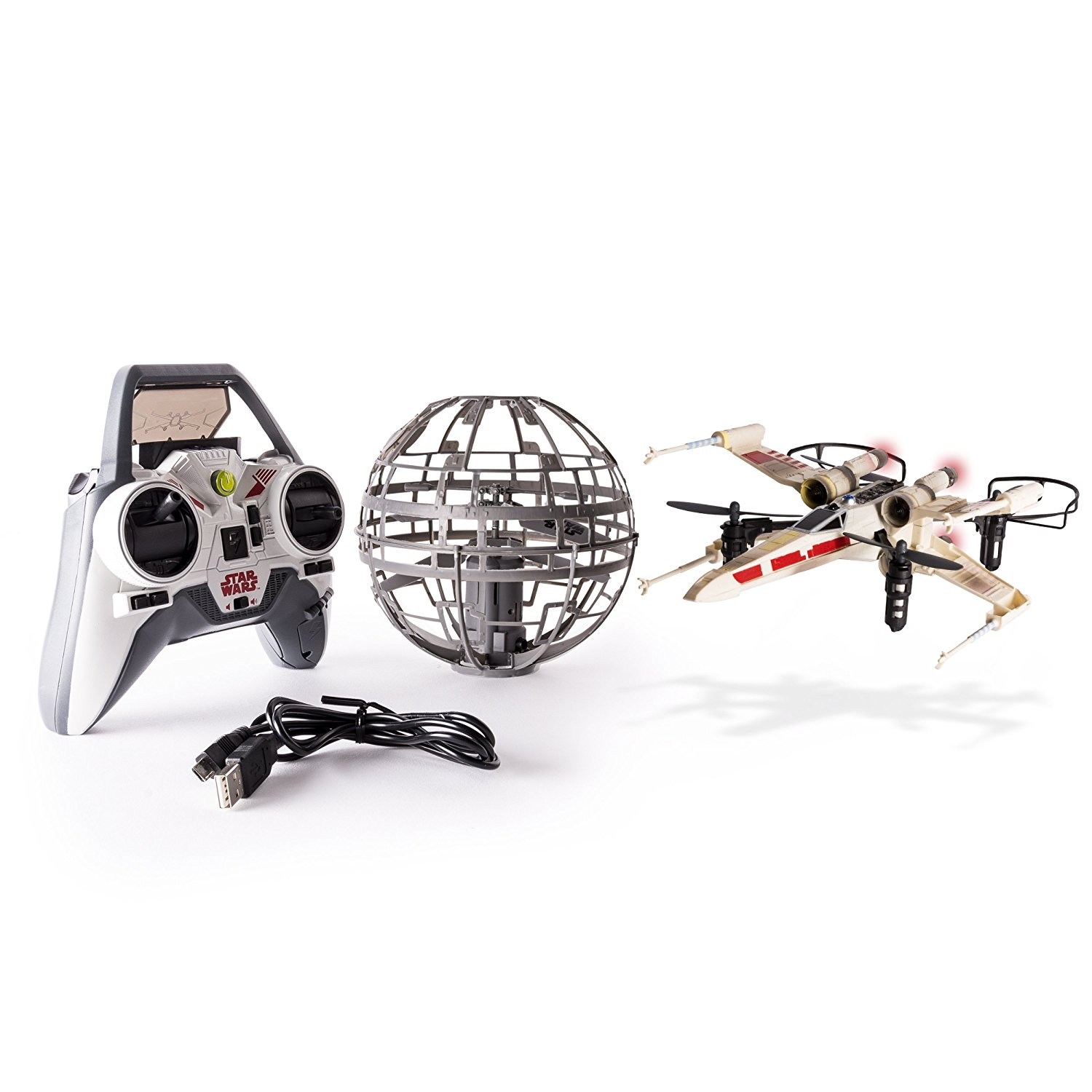 Star Wars X-wing and death Star drone set