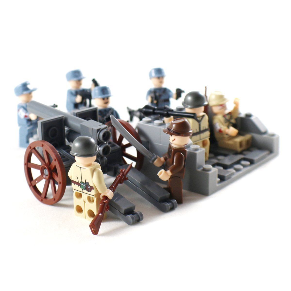 Artillery unit for buildings blocks in world war 2 series. Compatible with Lego.