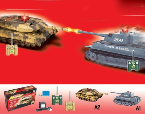 RC tanks fighting using infrared systems
