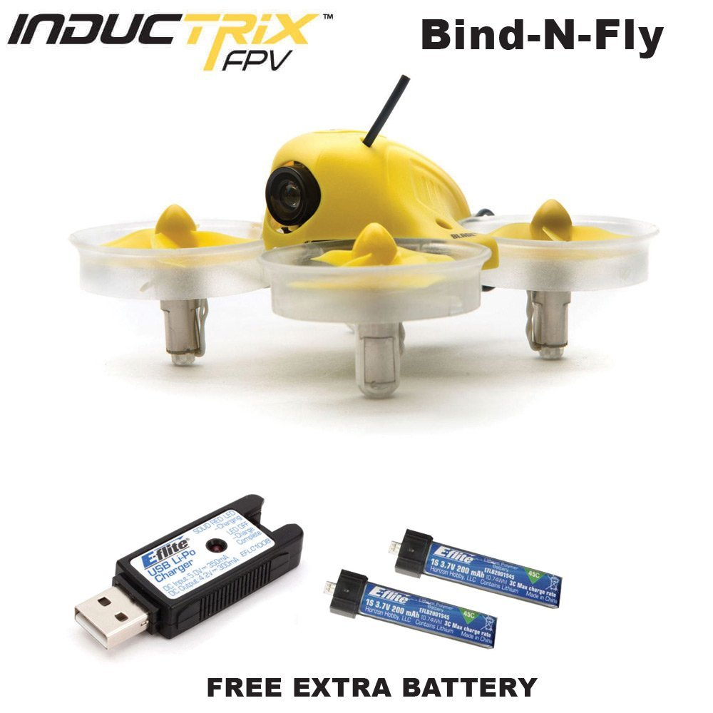 Blade BLH8580 Inductrix FPV BNF Micro Indoor Quadcopter Drone