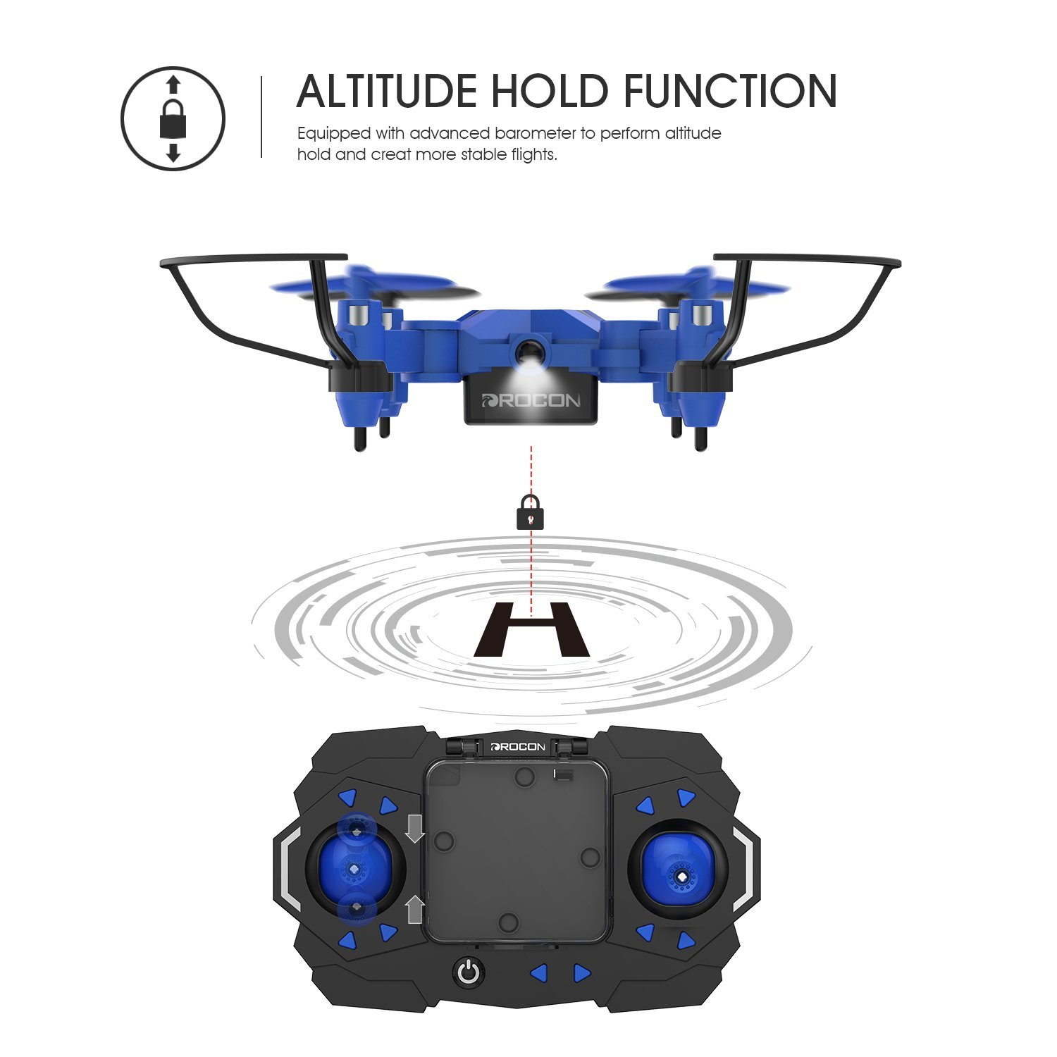 Mini Drone with Altitude Hold Mode